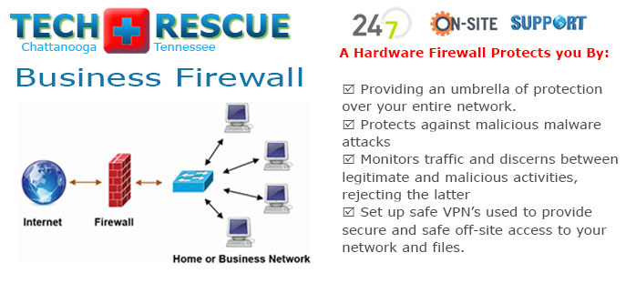 A hardware firewall acts as an umbrella to protect your entire network.